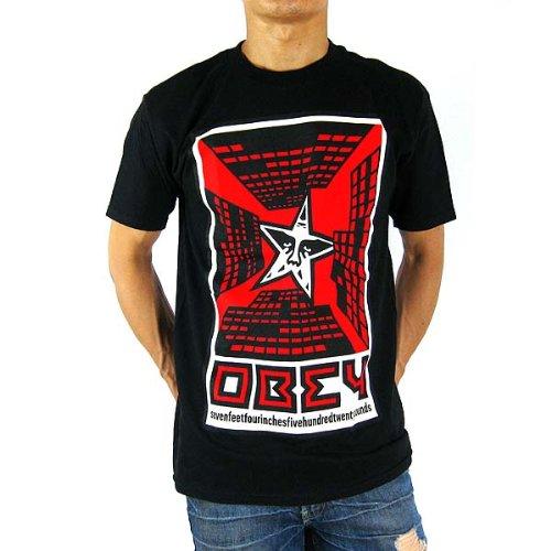 OBEY オベイ メンズ T シャツ ブラック 黒 BLACK  obey-tee003