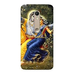 Premium Radha Krishna Multicolor Back Case Cover for Motorola Moto X Style