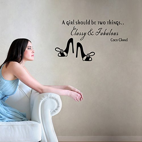 Sunyou®COCO CHANEL famously heels Quote SHOULD Wall Stickers Vinyl Decals