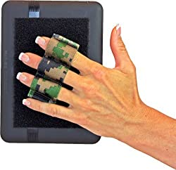 LAZY-HANDS® Heavy-Duty 3-Loop Grip (1 grip) for Readers & Mini Tablets - FITS MOST (Camouflage)