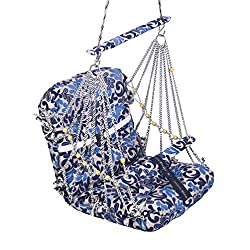 A & E Comfortable Multi Color Cotton Medium Swing for Kids babys childrens folding and washable 2 to 13 years