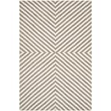 Safavieh Cambridge Collection CAM323G Handmade Grey and Ivory Wool Area Rug, 4 feet by 6 feet (4' x 6')