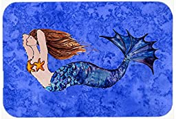 Caroline\'s Treasures 8725CMT Brunette Mermaid on Kitchen or Bath Mat, 20 by 30\