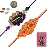 Little India Handcrafted Fancy Zardosi Work Designer Rakhi Gift 301