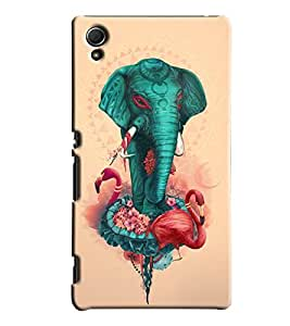 Blue Throat Elephant Front Printed Designer Back Cover/Case For Sony Xperia Z4