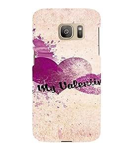 PrintVisa Be My Valentine Design 3D Hard Polycarbonate Designer Back Case Cover for Samsung Galaxy S7