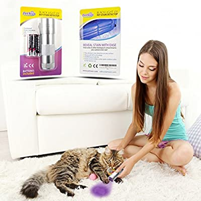 UV Light PRO Blacklight Flashlight Pet Urine Stain Detector - Pocket Sized - Natures Miracle, Simple Solution Compatible