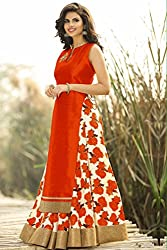 Spangel Fashion Navratri Special New Fancy Red And White Flower Print Indo Western Lehenga