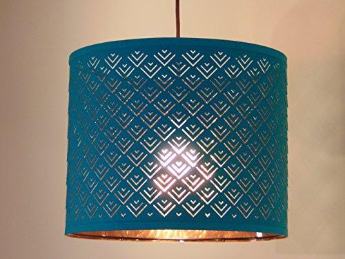 """Ikea Nymo Pendant Lamp Turquoise 14.5"""" Shade"""
