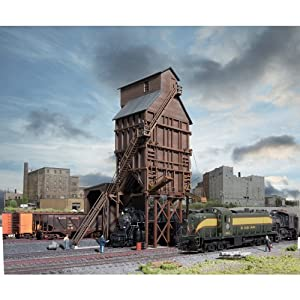 "Walthers Cornerstone Series&#174 N Scale Wood Coaling Tower - Kit 3-5/8 x 2-1/4 x 6-1/2"" 9.2 x 5.7 x 16.5cm at Sears.com"