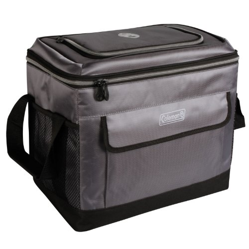 Coleman C006 Soft 40 Can Collapsible Cooler, Grey