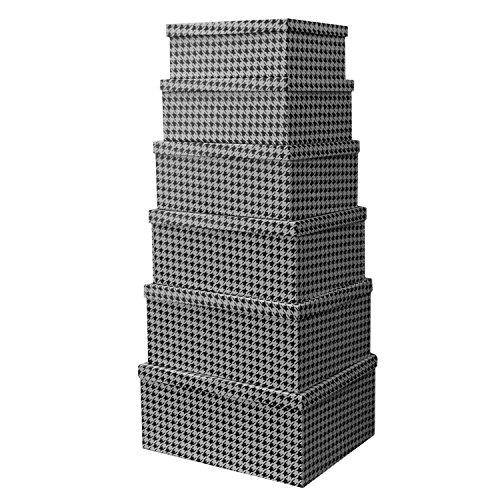 6tlg-Boxenset-mit-Deckel-Stapelbox-Dekobox-Deko-Karton-Allzweckbox-Allzweckkiste-Box-Kiste-Aufbewahrungskiste-Aufbewahrungsbox-Aufbewahrung-Geschenkbox-M2