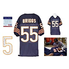 Lance Briggs Signed Navy Jersey - PSA DNA - Chicago Bears Autograph