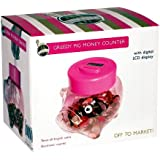 Proteam Ho1937 Pink Piggy Digital Coin Counter