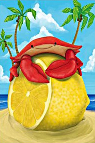 Regular Sized Flag Lemon Crab