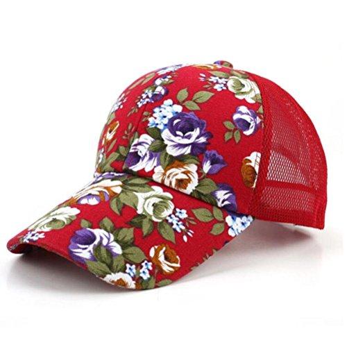 LHWY -  Cappellino da baseball  - Uomo Red Taglia unica