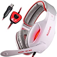 SADES SA913 USB PC Gaming Headset Stereo Surround Sound Over Ear Headphones With Microphone Vibration Volume Controller...