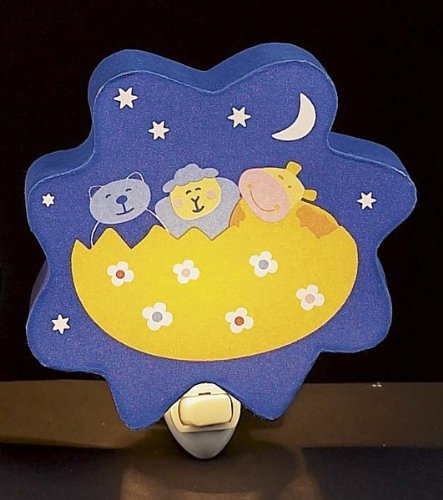 Children's Quality Designed Bear, Sheep, Hippo in the Night Bedroom Night Light