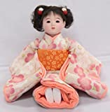 【市松人形】【翠仙作】【日本の人形】花あそび【市松人形】v0542i座り市松(小)専用椅子付き