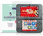 iLLumiShield - New Nintendo 3DS XL Matte Screen Protector (2015) with Lifetime Replacement Warranty / Anti-Glare HD Clear Film / Anti-Bubble& Anti-Fingerprint / Premium Japanese High Definition Invisible Crystal Shield - [3-Pack] Retail Packaging Compatilble with: Nintendo 3DS LL Japanese Version
