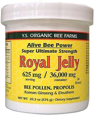 Fresh Royal Jelly + Bee Pollen, Propolis, Ginseng, Honey Mix - 36,000mg Y.S. Org 20.3 oz