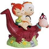 Westland Giftware Magnetic Ceramic Salt and Pepper Shaker Set, 4-Inch, Flintstones Dino Back Ride, Set of 2