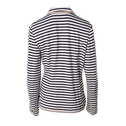 Marina Rinaldi by Max Mara Womens Plus Jersey Striped Three-Button Blazer пуловер max mara weekend пуловер