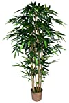 Tall High End Realistic Silk Bamboo Tree with Wicker Basket