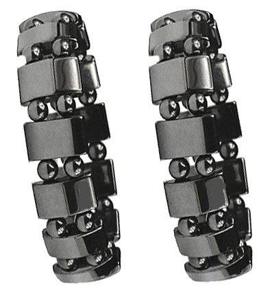 Set Of 2 Men's Hematite Metal Magnetic Therapy Bracelets S27-St2