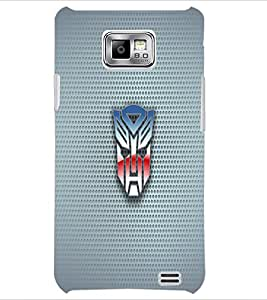 PrintDhaba Mask D-1818 Back Case Cover for SAMSUNG GALAXY S2 (Multi-Coloured)