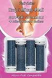 Emjoi Micro-Pedi Refill Rollers (Super Coarse) - Pack of 4