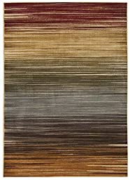 Nourison Paramount (PAR01) Multicolor Rectangle Area Rug, 5-Feet 3-Inches by 7-Feet 3-Inches (5\'3\