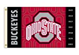 NCAA Ohio State Buckeyes 2-Sided 3-by-5 Foot Flag with Grommets