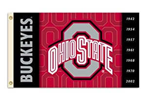 Buy NCAA Ohio State Buckeyes 2-Sided 3-by-5 Foot Flag with Grommets by BSI