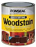Ronseal QDWSW750 750ml Woodstain Quick Dry Satin - Walnut