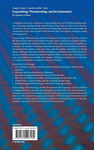 Ecopsychology, Phenomenology, and the Environment: The Experience of Nature