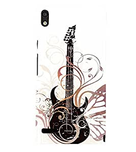 Vintage Fashion Guitar 3D Hard Polycarbonate Designer Back Case Cover for Huawei Ascend P6 :: Huawei P6 :: Huawei Ascend P6 Dual