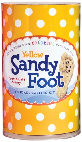 Spots and Ladybugs, LLC Sandy Foot Colorful Casting Kit - Yellow Yellow - 1