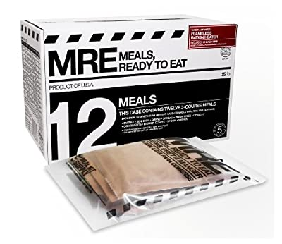 Mre Meals Ready To Eat Premium Case Of 12 Fresh Mre With Heaters Expiry Date Feb 2017 from Meal Kit Supply America MRE