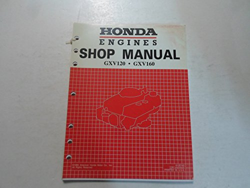 1986 Honda Engines GXV120 GXV160 Shop Manual LOOSE LEAF DISCOLORED FACTORY OEM (Honda Gxv160 Engine compare prices)