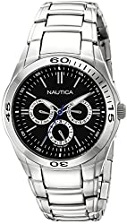 Nautica Men's N13617G NAC 100 Classic Stainless Steel Watch with Link Bracelet