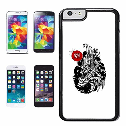 Cubierta del tel fono inteligente iphone 5c japoneses koi for Carpas ornamentales