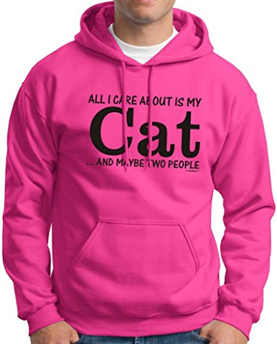 All I Care About Is My Cat And Maybe Two People Hoodie Sweatshirt Xl Heliconia