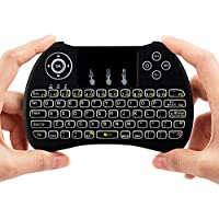 Lynec H9 Blacklit 2.4GHz Mini Wirless Touch Remote Keyboard Mouse with Touchpad