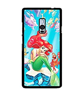 Printvisa Animated Underwater Mermaid Back Case Cover for One Plus Two::One Plus 2::One+2