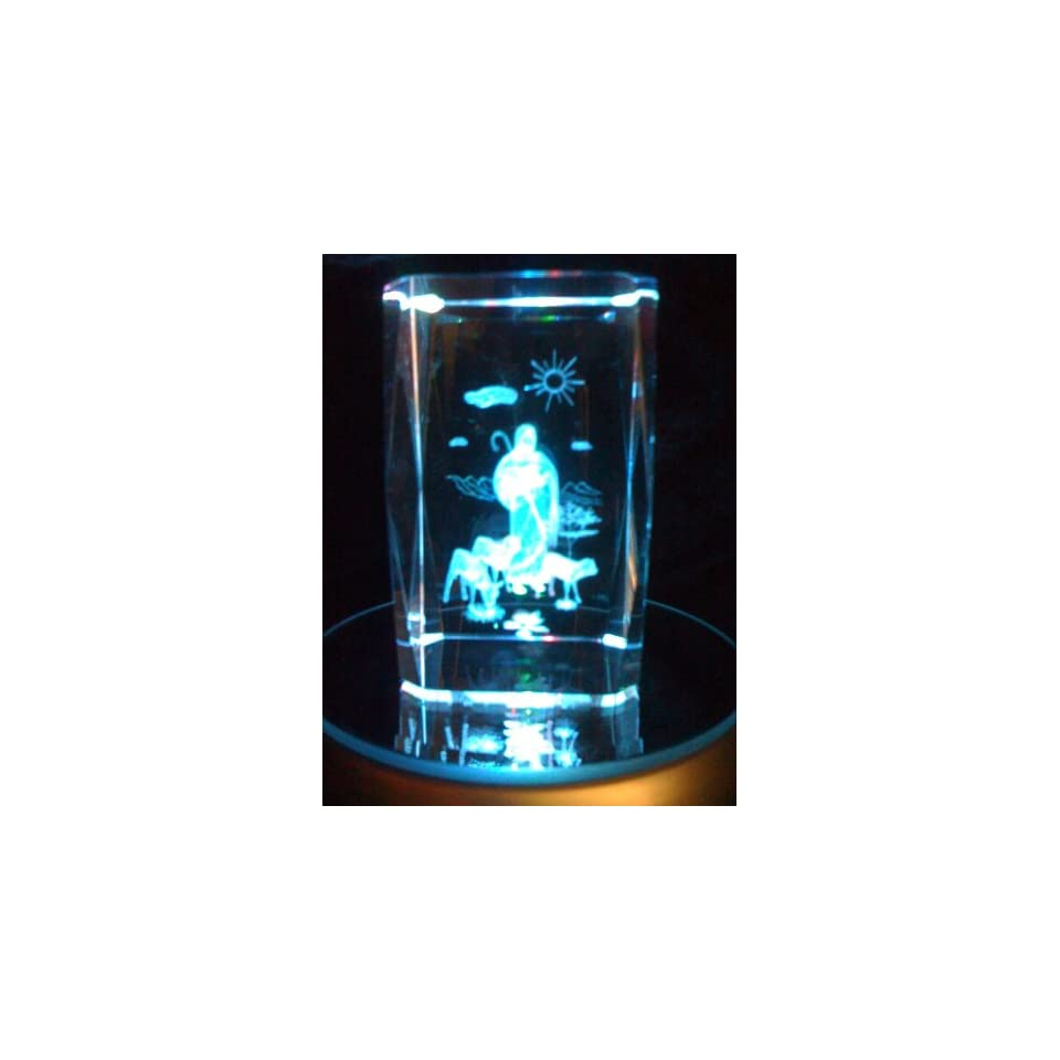 : Laser Etched Crystal Cube Jesus the Good Shepherd: Everything Else