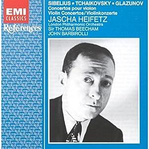 Sibelius / Tchaikovsky / Glazunov, Violin Concertos: Jascha Heifetz