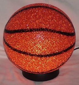 Basketball Sparkle Lamp Molded Light Glow A Slam Dunk Soft Plastic Sport Desk Lamp from Rhode Island Novelty