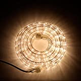 24 Ft. Super Bright Heavy Duty Warm White Rope Lights with 288...