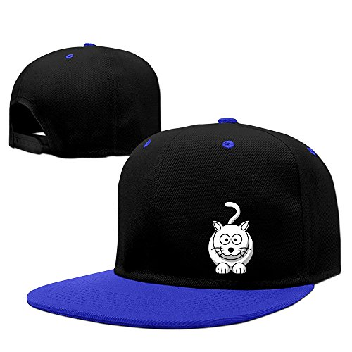 Cartoon Animal Funny Cat Adjustable Fashion Sports Cap RoyalBlue